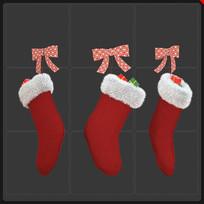 圣诞节元素圣诞礼品袜子