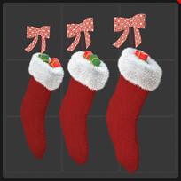 圣诞节元素圣诞袜子礼品盒