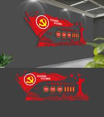 社区便民服务中心党员活动室党建文化墙