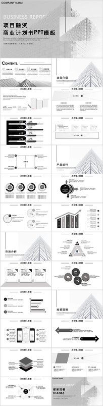 项目融资商业计划书PPT模板