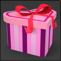 心形礼物盒圣诞礼物装饰品