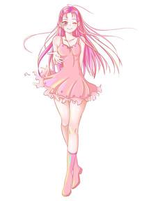 原创粉色动漫二次元少女插画 PSD