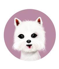 原创手绘可爱卡通动物小狗 PSD