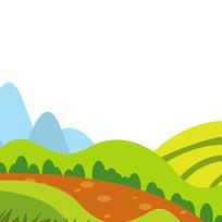 庄家田野绿色植物草坪元素 PSD