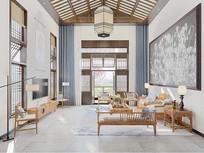 新中式风格建筑客厅
