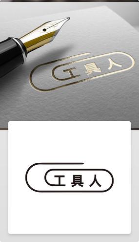 TOOL工具人简洁拼接创意logo
