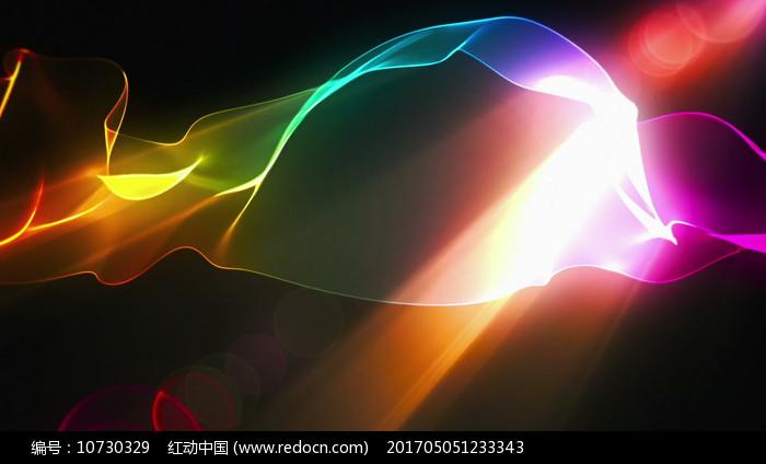 炫酷彩色波浪线流动背景视频素材图片