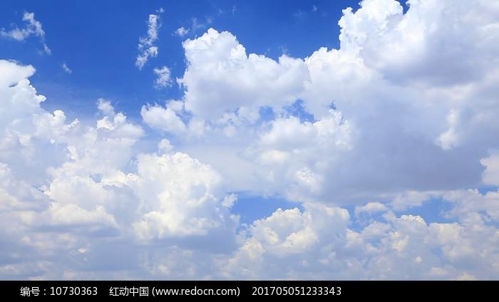 蓝天白云天空视频素材 图片