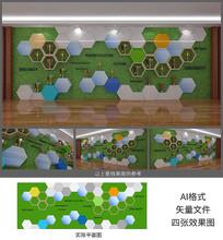 企业荣誉奖杯文化墙设计素材