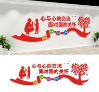 社区心理咨询室文化墙设计
