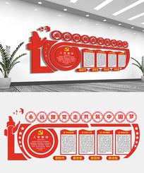 创意永远跟党走文化墙设计