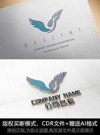 大雁logo商标设计