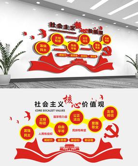 创意社会主义核心价值观文化墙