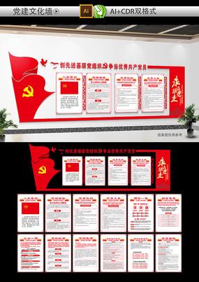 红色党政机关党建文化墙