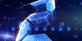蓝色5s 震撼星空启动仪式视频ae模版