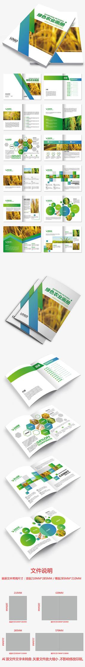 绿色环保水稻大米农业画册