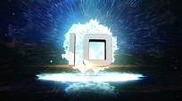 3D震撼冲击波银色10秒倒数开场AE视频模板