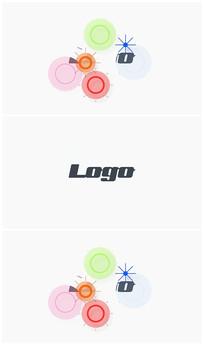 简洁卡通烟花绽放logoAE视频模板