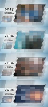 简洁图片文字展示企业发展历程AE视频模板