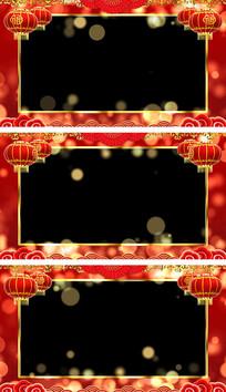 恭贺新春拜年视频框通道循环视频素材