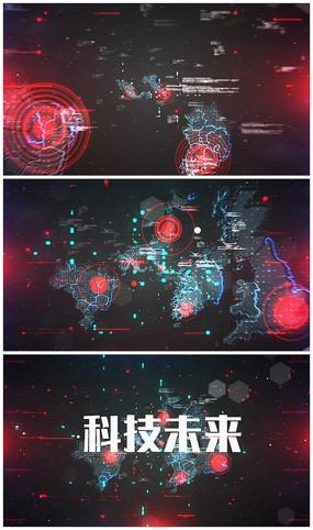 震撼科技logo动画AE视频模板