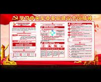 中央军委基层建设会议展板设计