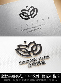 花朵logo女性商标设计