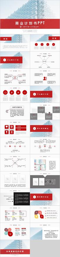 商业计划书项目介绍PPT模板