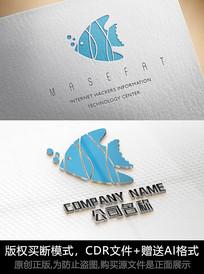 鱼logo标志公司商标设计