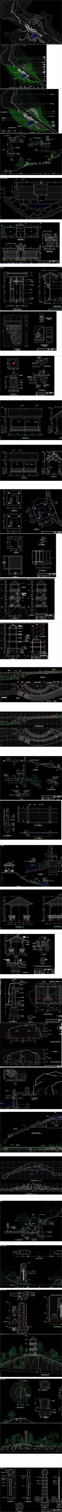 森林公园主入口景观设计CAD施工图