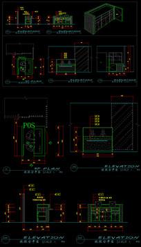 收银台cad服务台CAD图纸