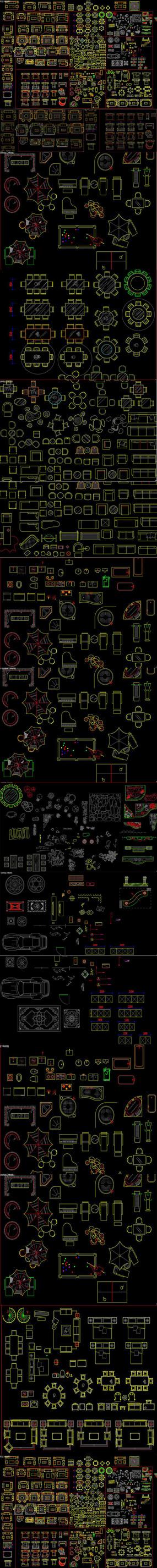 新中式家具CAD图库