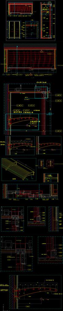 整木衣柜CAD设计深化图纸