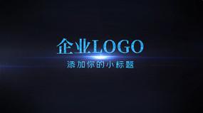 企业LOGO演绎蓝色PR视频模板