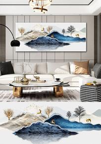 新中式抽象山水风景晶瓷晶贝装饰画