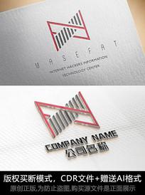 N字母logo标志公司商标设计