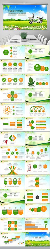 电动汽车绿色低碳环保新能源汽车PPT
