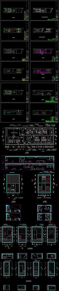 服装店装饰CAD全套施工图
