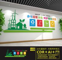 环保垃圾分类文化墙
