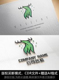 创意鹿logo标志商标设计
