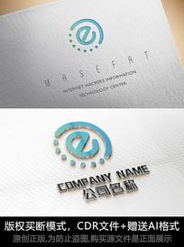 e字母LOGO公司商标设计
