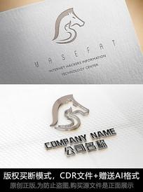 马logo标志马商标设计