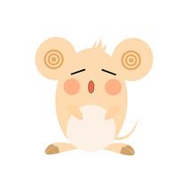 2020年鼠年卡通老鼠装饰元素表情 psd图片