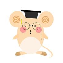 2020年鼠年卡通老鼠装饰元素博士