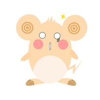 2020年鼠年卡通老鼠装饰元素惊讶表情 psd图片