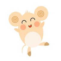2020年鼠年卡通老鼠装饰元素开心表情 psd图片