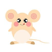 2020年鼠年卡通老鼠装饰元素可爱表情 psd图片