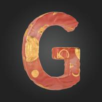 金玉质感立体字母G