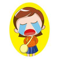 哭泣的小姑娘表情包元素