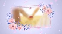 桃花丛情人节相册展示婚礼开场PR视频模板